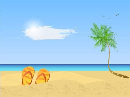 38775080-illustratie-van-een-kleurrijke-strand-scène-met-paraplu-sandalen-palmbomen-zand-en-zee-